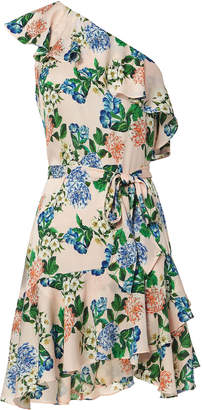Marissa Webb Perryn One Shoulder Floral Dress