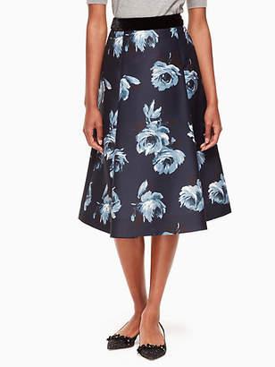 Kate Spade Night rose mikado skirt