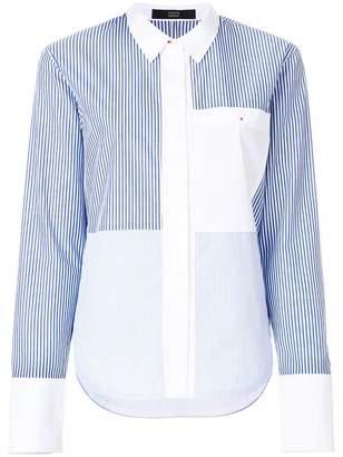 Steffen Schraut patchwork striped shirt