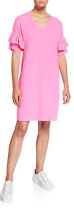 Sundry Short-Sleeve T-Shirt Ruffle Dress