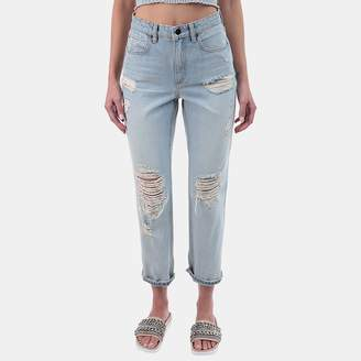 Alexander Wang Cult Cropped Straight Jean in Bleach