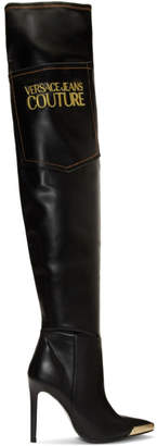 Versace Black Tall Heeled Boots