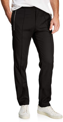 Karl Lagerfeld Paris Men's Zip-Detail Pintuck Trousers