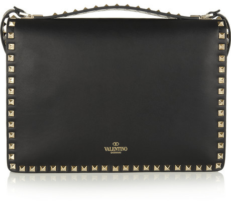 Valentino The Rockstud Flap leather shoulder bag