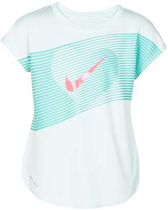 Nike Girls 4-6x Metallic Lined Heart High-Low Hem Tee