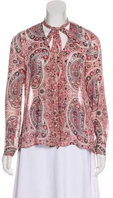 Alice + Olivia Long Sleeve Printed Blouse