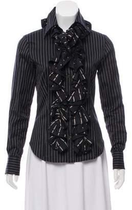 Etro Pinstripe Button-Up Top