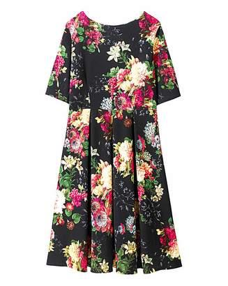 Closet Textured Jersey Print Midi Dress