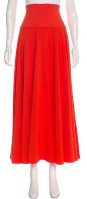 Elizabeth and James Pleated Maxi Skirt