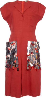 Bottega Veneta Paillette-Embellished Cotton-Blend Dress