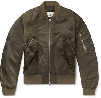 Acne Studios Makio Nylon Bomber Jacket - Army green