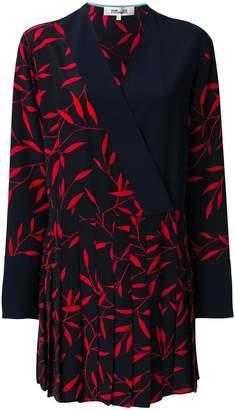 Diane von Furstenberg leaf print pleated dress