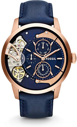 Fossil Townsman Multifunction Navy Leather Watch