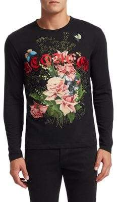 Alexander McQueen McQueen Cotton Screen Print Sweater
