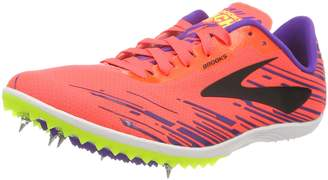 Brooks Women's Mach 18 Track Spike Shoe (BRK-120229 1B 3888770 8 CORAL/PURPLE/BLA)