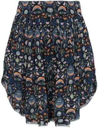 Chloé Abstract Print Shorts