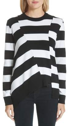 Proenza Schouler Asymmetrical Stripe Sweater (Nordstrom Exclusive)