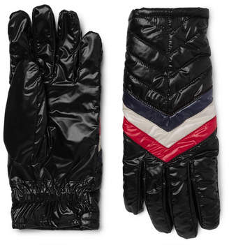 Moncler Striped Quilted Shell Gloves - Black