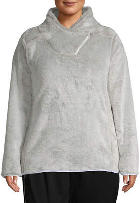 ST. JOHN'S BAY SJB ACTIVE Active Plush Crossover Neck Pullover - Plus
