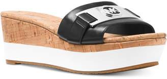 Michael Kors Warren Platform Wedge Sandals