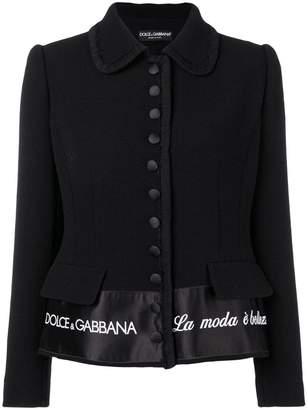 Dolce & Gabbana 'La Moda è Bellezza' blazer