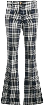 Tommy Hilfiger plaid kick flare trousers