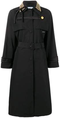 Prada studded collar trench coat