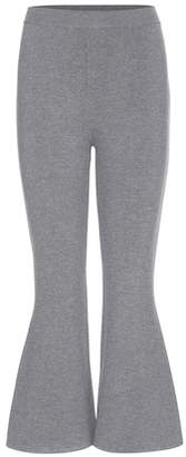 Stella McCartney Wool-blend cropped flared trousers