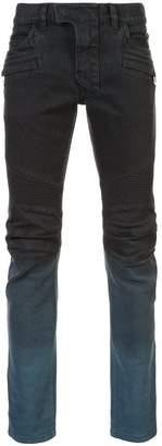 Balmain degradé biker jeans