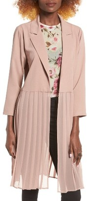 Women's Leith Pleated Duster Coat $65 thestylecure.com