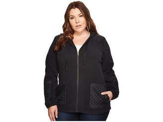 Columbia Plus Size Warm Up Hooded Fleece Full Zip Women's Sweatshirt