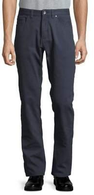 Black & Brown Black Brown Textured Straight-Leg Pants