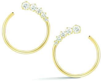 Prive Jemma Wynne Diamond Hoop Earrings in 18K Gold