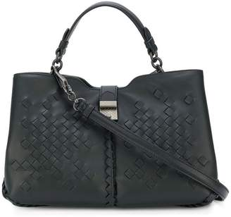 Bottega Veneta nero nappa medium napolli bag