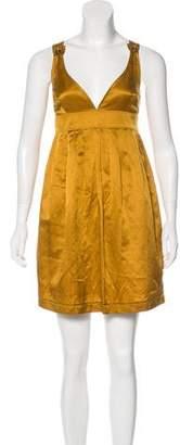 Burberry Silk-Blend Mini Dress