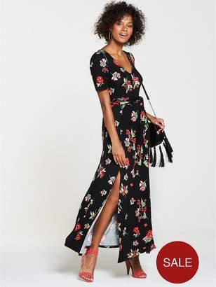 Very Tall Deep V Jersey Maxi Dress - Floral Print