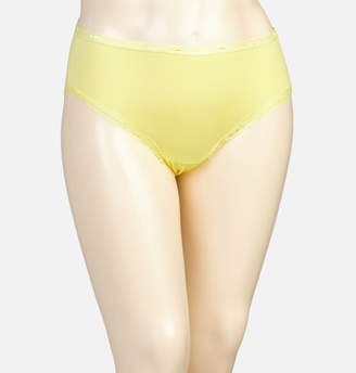 Avenue Yellow Iris Cotton Modern Brief Panty with Lace