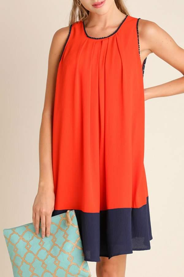 Umgee USA Color Block Dress