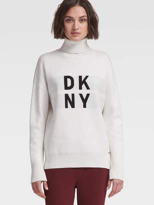DKNY Stacked Logo Turtleneck