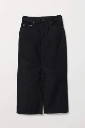 H&M Long Denim Skirt - Black