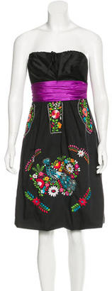 Vera Wang Embroidered Silk Dress $125 thestylecure.com