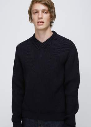 Lanvin Placed Darts English Rib Round Neck Knit