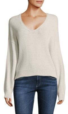 Free People Girl's Perfect Day Scoopneck Cotton Sweater $98 thestylecure.com
