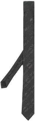 Saint Laurent embroidered narrow tie