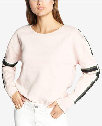 Sanctuary Backtrack Striped-Trim Sweatshirt