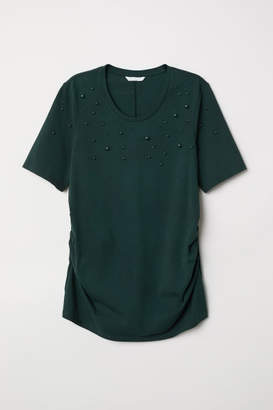 H&M MAMA Beaded Top - Green