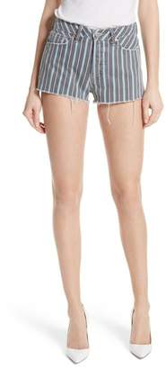 GRLFRND Cindy Stripe Denim Shorts (Taffy)