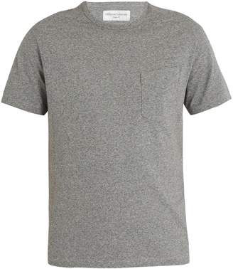 Officine Generale Asymmetric chest-pocket cotton-jersey T-shirt