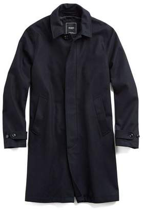 Todd Snyder Tech Wool Topcoat in Navy