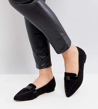 Asos LUCY Wide Fit Pointed Ballet Flats